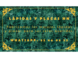 PLACAS DE MARMOL Y METAL EN TEGUCIGALPA
