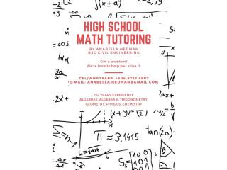 Tutoría de Matemática para Secundaria (Inglés y Español)
