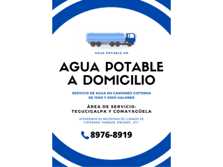 AGUA POTABLE A DOMICILIO