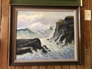 Cuadro tormenta en el mar