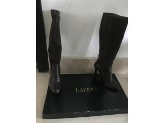 Bota cuero Lauren, Ralph Lauren