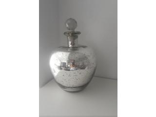 Botella Decorativa plateada adorno