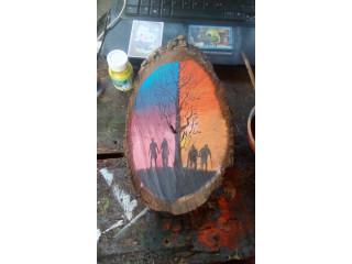 Pintura en troncos