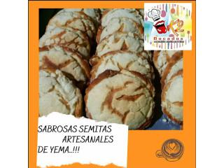 Sabrosas Semitas Artesanales de Yema Paquete de 10 unidades
