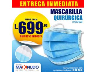 Mascarillas Quirurgicas - Caja de 50 unidades ¡ENTREGA INMEDIATA!
