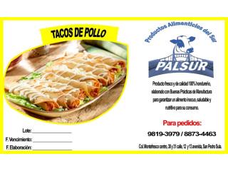 Tacos en paquete