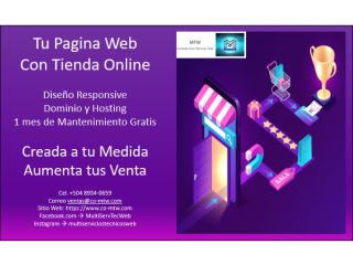 Tu pagina web con tienda ONLINE