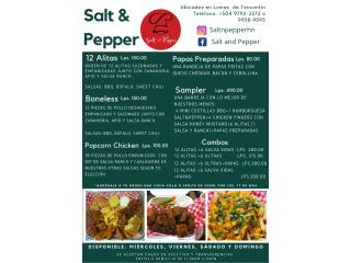 Menús de Salt and Pepper