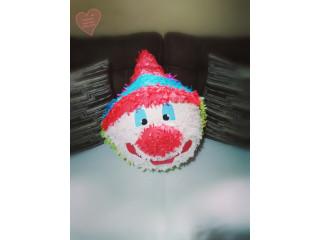 Piñata cabeza de payaso