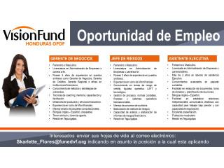 Institución Microfinanciera brinda Oportunidad de Empleo