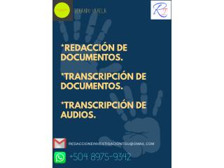 Redacción y Revisión de documentos.
