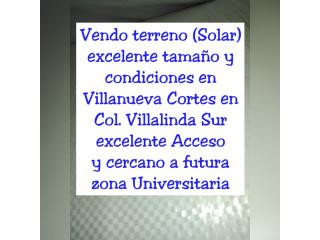 Vendo terreno en Villanueva Cortés