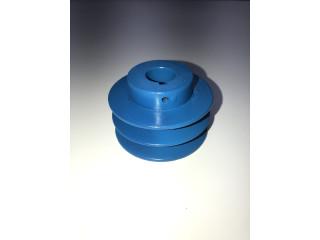 Polea de doble banda para mezcladora concretera.