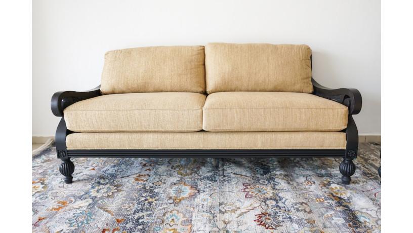 nuevo-sofa-de-tela-beige-con-respaldo-de-rattan-negro-big-0