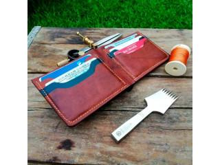 Billetera de cuero hecha a mano