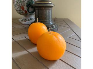 Velas en formas de naranja
