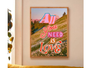 "Pintura ""All you need is love"""