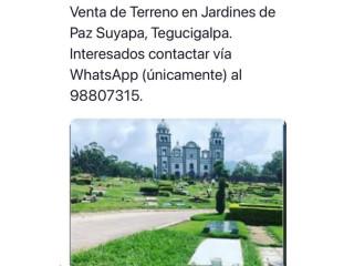 Lote de Terreno en Jardines de Paz Suyapa, Tegucigalpa.