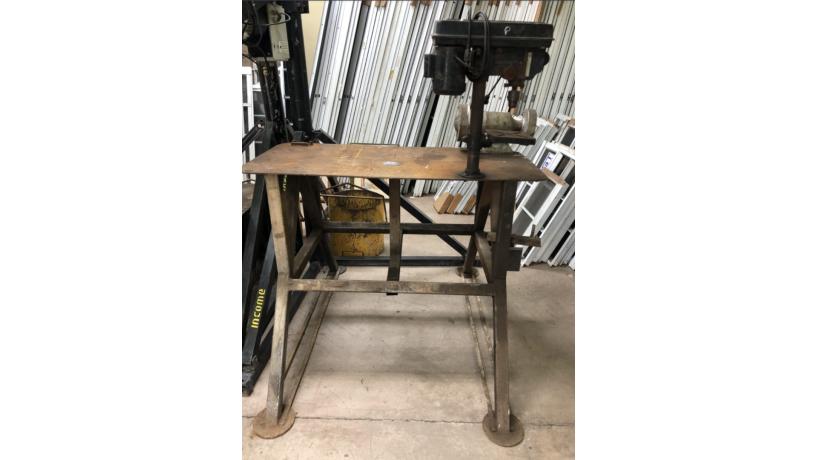 taladro-electrico-de-banco-y-esmeril-con-mesa-de-trabajo-metalica-usados-big-0