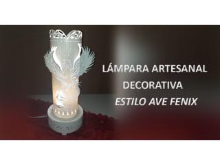 Lampara artesanal estilo AVE FENIX