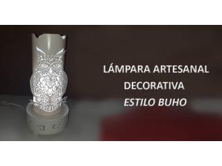 Lampara artesanal estilo BUHO