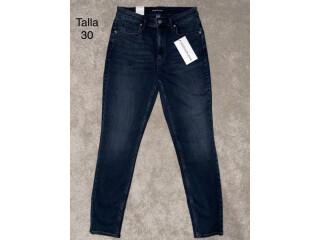 Calvin Klein Jeans Mujer talla 30 color azul