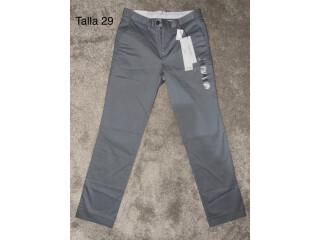 Calvin Klein Pantalón tipo docker Mujer talla 29 color gris