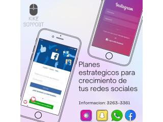 Manejos de redes sociales!