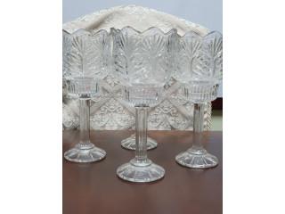 4 candelabros de cristal, mismo tamaño todos