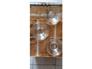 Platitos de vidrio para servir