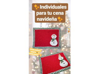 Individuales de mesa (crochet)