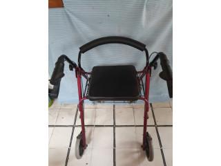 Andador para adulto con ruedas y asiento