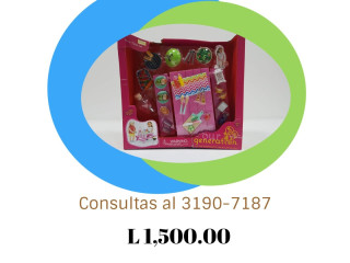Picnic/mesa con piezas/rosado