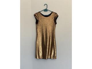 Vestido de noche bronce